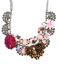 ASOS | Multicolor Premium Jewelled Flower Collar Necklace | Lyst