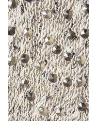 TOPSHOP - Gray Knitted Stud Tweed Cardigan - Lyst