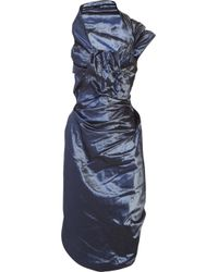 Vivienne Westwood Red Label | Blue Corseted Taffeta Dress | Lyst