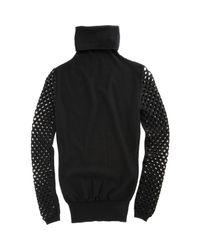 Alexander Wang - Black Fishnet Turtleneck Sweater - Lyst