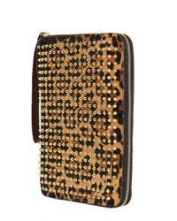 Christian Louboutin | Metallic Cris Leopard Print Ponyskin Ipad Case | Lyst