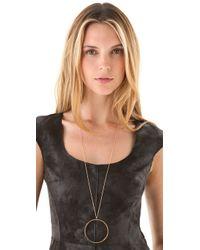 Jennifer Zeuner - Metallic Circle Diamond Necklace - Lyst