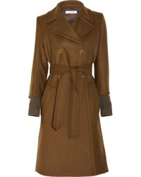 Sonia by Sonia Rykiel | Brown Double Breasted Wool Blend Coat | Lyst