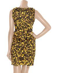 Thakoon   Yellow Rococco Batik-print Stretch-cotton Dress   Lyst