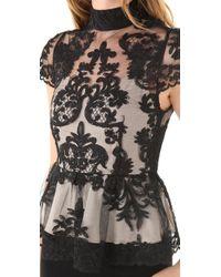 Alice + Olivia   Black Robyn Bodice Dress   Lyst