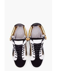 Giuseppe Zanotti | Black August Colorblock Suede Sneakers | Lyst