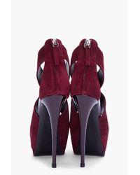 Giuseppe Zanotti | Red Burgundy Sharon Pumps | Lyst