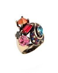 Iosselliani - Multicolor Crystals Ring - Lyst