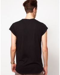 Ben Sherman Black Capped Sleeve Pocket T-Shirt for men