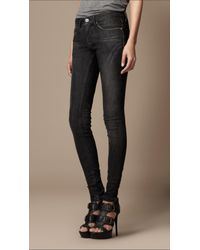 Burberry Brit | Black Bexton Skinny Fit with Zip | Lyst