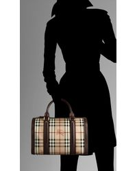 Burberry | Brown Medium Haymarket Check Bowling Bag | Lyst