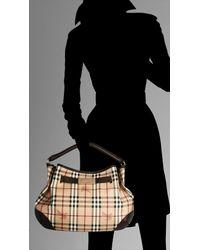 Burberry | Natural Medium Haymarket Hobo Bag | Lyst