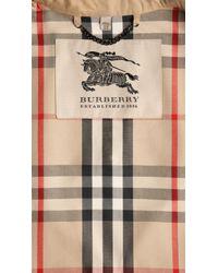 Burberry - Natural Short Gabardine Trench Coat - Lyst