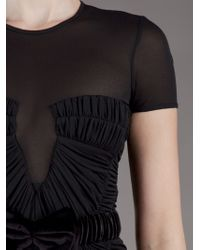 Burberry Prorsum | Black Rouched Gown | Lyst