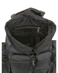 Dolce & Gabbana - Black Nylon Multi Pocket Backpack for Men - Lyst