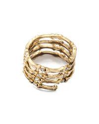 House of Harlow 1960 - Metallic Bone Wrap Ring - Lyst