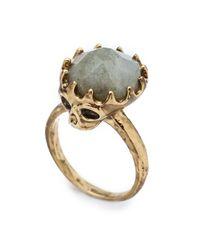 House of Harlow 1960 | Metallic Stone Top Skull Ring | Lyst