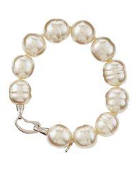 Majorica | Metallic Baroque Pearl Bracelet | Lyst