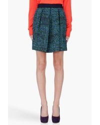 Proenza Schouler   Blue Green Indigo Tweed Skirt   Lyst