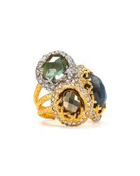 Alexis | Metallic Bittar Siyabona Fern Gold Labradorite Stacked Ring | Lyst