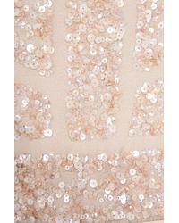 Elie Saab | Pink Cap Slb Beaded Top Silk Gown | Lyst