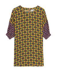 KENZO | Brown Medallion Print Mid Sleeves Top | Lyst