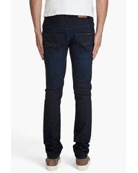 Nudie Jeans   Blue Thin Finn Dark Shine Jeans for Men   Lyst