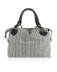 Pauric Sweeney | Black Striped Canvas Tote | Lyst