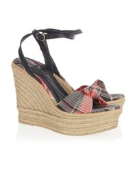 Ralph Lauren Collection | Multicolor Fistina Espadrille Wedge Sandals | Lyst