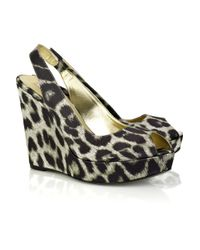Stella McCartney | Multicolor Leopard Print Wedges | Lyst