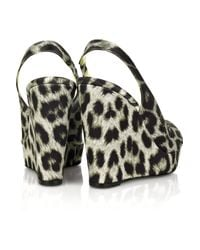 Stella McCartney - Multicolor Leopard Print Wedges - Lyst