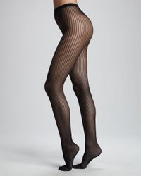Wolford | Black Pinstripe Tights | Lyst