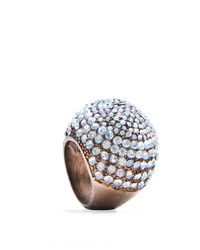 Mango | Metallic Touch Crystal Ring | Lyst