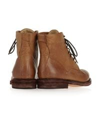 Rag & Bone | Brown Wessex Leather Lace-up Boots | Lyst