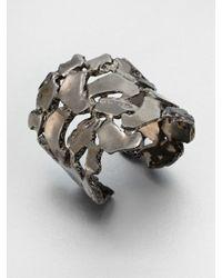 Kara Ross - Metallic Nugget Cuff Bracelet - Lyst