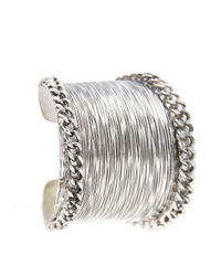 Mango | Metallic Chains Embossed Cuff | Lyst