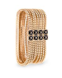 Mango - Metallic Multi Chains Bracelet - Lyst