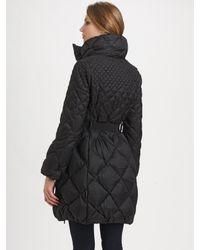 Moncler | Black Belted Quilted Jacket | Lyst