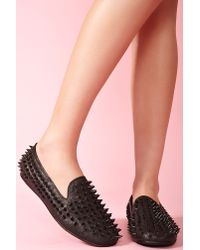 Nasty Gal - Hellraiser Loafer Black - Lyst