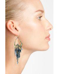 Alexis Bittar | Blue Elements Pavé Shield Drop Clip-on Earrings | Lyst