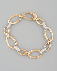 Roberto Coin | Metallic Martellato Diamond Necklace | Lyst