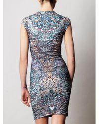 McQ Alexander McQueen | Multicolor Feather Print Dress | Lyst