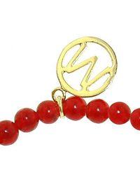 Melissa Odabash - Gold Cherry Red Quartz Evil Eye Bracelet - Lyst