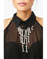 Nasty Gal | Metallic Boneyard Necklace | Lyst