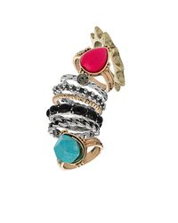 TOPSHOP | Multicolor Spirit Bumper Ring Pack | Lyst