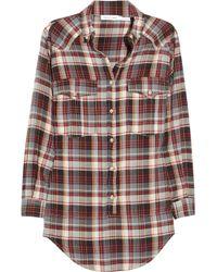 Étoile Isabel Marant   Multicolor Madoc Oversized Cotton Plaid Shirt   Lyst
