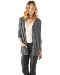 J Brand - Gray Ava Cardigan Sweater - Lyst