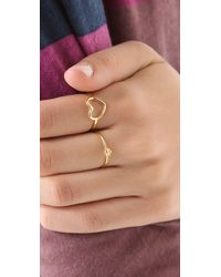 Jacquie Aiche - Yellow Diamond Flower Ring - Lyst