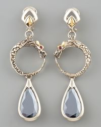 John Hardy | Metallic Hematite Naga Drop Earrings | Lyst