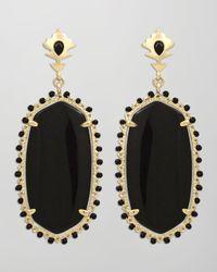 Kendra Scott | Dalton Earrings Black Onyx | Lyst